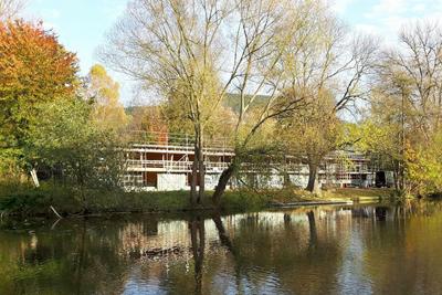Bootshaus-Rohbau in Holzrahmenbauweise fertiggestellt