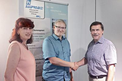 Nachwuchskraft bei der HI Bauprojekt GmbH: Bauplanungsbüro freut sich über seinen neuen Auszubildenden am Standort Jena